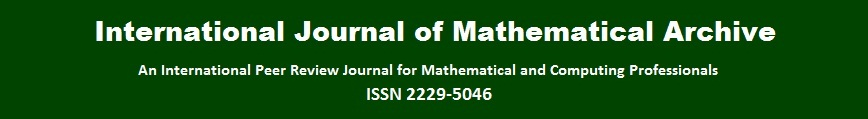 International Journal of Mathematical Arhive (IJMA)